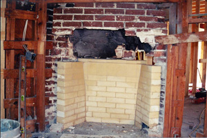 rebuild fireplace. Fireplace Repair  Deteriorated Firebox Rebuilt Craftsman Masonry Inc Chimney